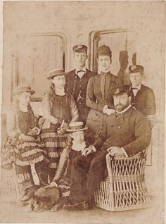 Cabinet sized albumen print of the Prince and Princess of Wales and their children, taken in September 1880 by James Russell and Sons. This was just before the two young princes left on a two year round the world voyage on the of that month, as Princess Louise, Prince And Princess, Princess Mary, Princess Of Wales, Queen Victoria Family, Princess Victoria, Princess Alexandra Of Denmark, King Edward Vii, Young Prince