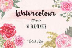 Watercolour Flower Brushes