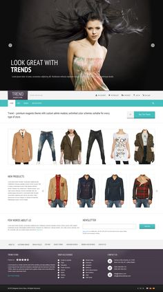 nice designed webshop cool presentation of clothes in small