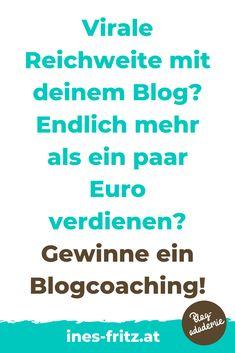 Gewinnspiel bis 29.2.2020: Gewinne dein persönliches Blogcoaching im Wert von 249 Euro! Sei schnell und melde dich gleich dafür an!   #blogger #blogreichweitesteiger #mehrleser #seo #bloggen #blogartikel #tippsfuerblogger #gewinnspiel #blogverbessern #besserschreiben #affiliatemarketing #geldverdienenblogger Affiliate Marketing, Content Marketing, Storytelling, Euro, Wordpress, Website, Words, Search Engine Optimization, Further Education
