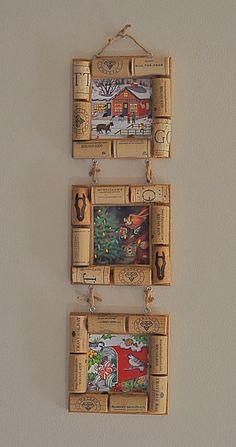 3 x 3 Picture Frame - Cork #winecorkcrafts