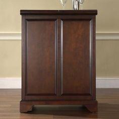 LaFayette Expandable Bar Cabinet in Vintage Mahogany Finish - Crosley Furniture - - Home Bar Cabinets, Bar Sets Wine Storage, Tall Cabinet Storage, Home Bar Cabinet, Raised Panel Doors, Wine Cabinets, Dining Room Bar, Lafayette, Bar Set