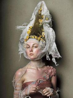 © Steven Meisel. What an astounding makeup/colour treatment work!