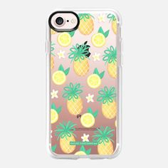 Summer Pineapple Lemonade Hawaii Tropical Fruit Lemon Pattern Rachillustrates Rachel Corcoran -
