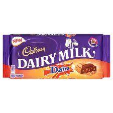 Cadbury Dairy Milk Daim Chocolate Bar 120G - Groceries