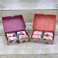 Hinged-Lid Box for Hershey's Nuggets with Video Tutorial - The Paper Pixie DIY Paper Lanterns Pa Candy Crafts, 3d Paper Crafts, Diy Paper, Paper Crafting, Hershey Nugget, Christmas Gift Baskets, Christmas Wrapping, Christmas Ideas, Christmas Crafts