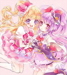 ミラクル♡マジカル☆ジュエリーレ! Cute Anime Chibi, Kawaii Anime Girl, Anime Art Girl, Pretty Cure, Anime Sisters, Anime Friendship, Anime Songs, Anime Best Friends, Pretty Anime Girl