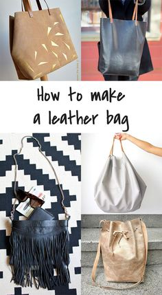 Ohoh Blog - diy and crafts: 5 DIY to Try . Visit http://www.sewinlove.com.au/category/fashion/accessories-fashion/ for more DIY Bags and Purses ideas.