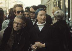 Jean-Paul Sartre and Simone de Beauvoir, Paris, 1970. Photo: Bruno Barbey/Magnum…