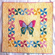 baby quilt measurements | Butteryfly baby quilt - Quilters Club of America