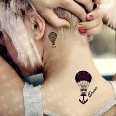 K Style : new fashion Disanchor mini - hot balloon anchor Tattoo stickers waterproof. :.