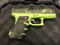 Rustic zombie green glock 30s Glock Guns, Weapons Guns, Guns And Ammo, Camo Guns, Hunting Guns, Tac Light, Custom Glock, Tactical Gear, Firearms