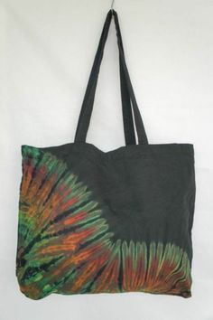TIE DYE TOTE BAG 011 HANDMADE RARE Shoulder HIPPIE BOHO PURSE 60s 70s
