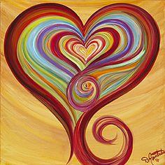 Beautiful artwork heart by Debbie Marie Arambula