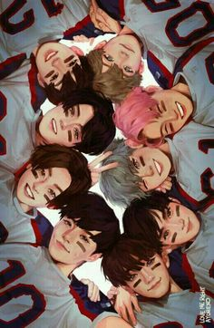love me right fanart starting from the top in the right: Baekhyun, Kai, Chanyeol, Suho, Chen, Lay, Xiumin, Sehun, D.O