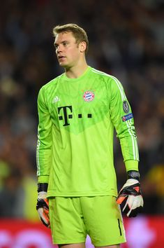 A dejected Manuel Neuer of Bayern München reacts followinghis team's 3-0 defeat during the UEFA Champions League Semi Final, first leg match between FC Barcelona and FC Bayern München at Camp Nou on May 6, 2015 in Barcelona, Catalonia.
