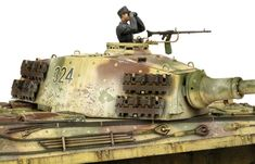 The Modelling News: Andy finishes Meng Models scale King Tiger Henschel Turret with AK shades. The Modelling News, Detailed Paintings, Tiger Ii, Tiger Tank, Camo Colors, Model Tanks, Ww2 Tanks, German Army, Panzer
