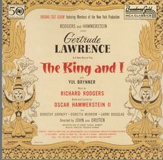 The King and I [Original 1951 Cast] by Gertrude Lawrence (CD, Mar-1993, MCA)