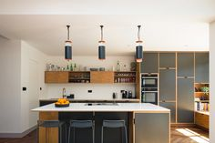 Bespoke Plywood Kitchen by Uncommon Projects Furniture Layout, Home Office Furniture, Plywood Furniture, Furniture Ideas, Kitchen Diner Extension, Open Plan Kitchen Diner, Plywood Kitchen, Timber Kitchen, House Extension Design