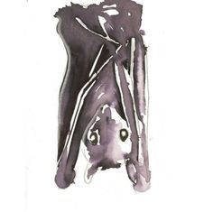 awww! my favorite bat watercolor i sold looong ago! --- Bat Watercolor Painting by peacocktaco on Etsy