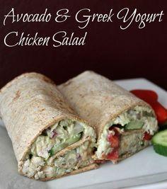 Avocado and Greek Yogurt Chicken Salad Recipe 140 calories and 4 weight watchers points plus