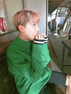 BTS | Jhope eating | photo shoot spring day. #by RM|| MY BABY IS SO CUTE