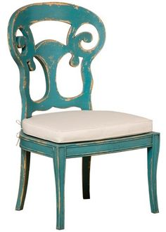 Verona Club Side Chairs (Pair) in Crossroads Cyan found on Layla Grayce #laylagrayce #turquoise #coral