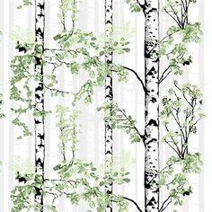Skap en frisk følelse i ditt hjem med Luontopolku tekstil fra Vallila Interior, designet av Riina Kuikka. Tekstilet er produsert i en miks av bomull og polyester og har et naturinspirert mønster som forestiller bjørketrær i full blomstring. Stoffet er perfekt til gardiner, duker eller om du vil sy dekorative putetrekk. Kun fantasien setter grenser!