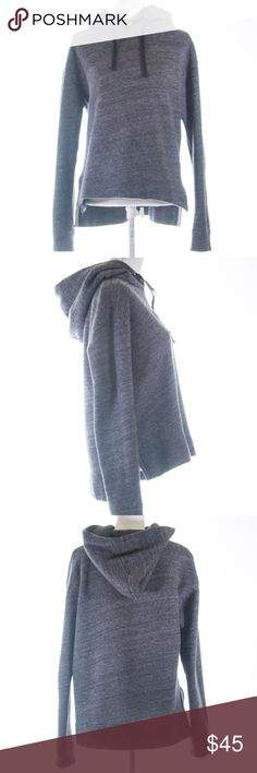J.Crew Gray Pull Over Hoodie Size S Thick and cozy J Crew pull over. This comes in an amazing gray color. High-low. 71% cotton, 15% polyester. Pre-loved. Lots of life left. J. Crew Tops Sweatshirts & Hoodies