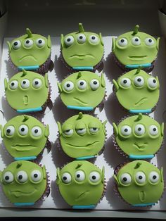 LGM cupcakes - Toy Story Alien by trulycrumbtious, via Flickr