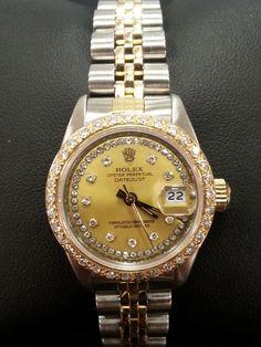 Ladies two tone diamond Rolex