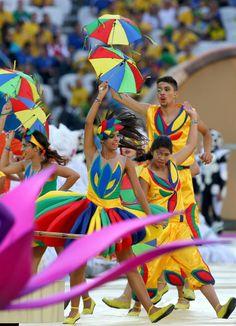Un momento de la gala de inauguración del Mundial de Fútbol de Brasil 2014.