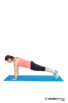 Plank Exercise Demonstration via @SparkPeople