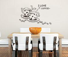 Naklejki na ścianę ścienne Filiżanki Kawa kuchni - HomeGadget - Naklejki na ścianę