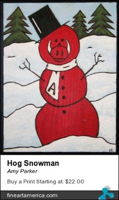 Razorback Snowman