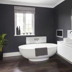 Grey bathroom walls makeover house ideas grey bathrooms dark gray bathroom and gray bathroom walls light . Gray Bathroom Walls, Gray And White Bathroom, Bathroom Colors, Bathroom Ideas, Bathroom Styling, Grey Bathroom Decor, Bathroom Vanities, Bathroom Furniture, Bedroom Decor