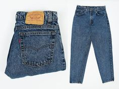 085ebb63d4348 Size 30 Levis Jeans 550 - Vintage 80s Levi s 550 Jeans 30 x 29 - Dark Acid  Wash - Relaxed Fit Tapered Leg- Made in USA- W31 L30 - Dark Denim