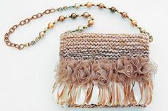 A handmade evening purse with lots of detail.