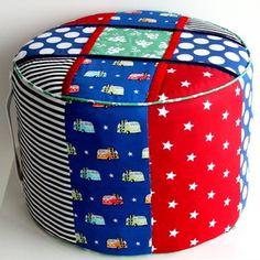 Cars & Stars Ottoman by Olivers Twisty Tales