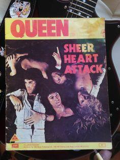 Queen Sheer Heart Attack - Songbook Sheet Music Book Freddie Mercury Brian May