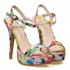 $11.75 Party Women's Sandals With Floral Print and Cloth Design. With hot lil capri pants and a backless top!