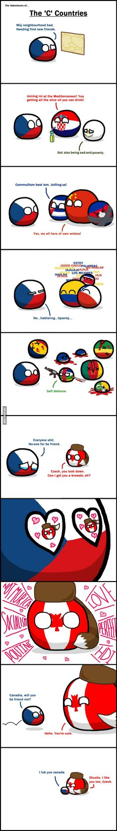 The Czech Republic – WorldBall Exercise For Six Pack, Funny Jokes, Hilarious, Silly Jokes, Comic Panels, Country Art, Worlds Of Fun, Funny Comics, Best Memes