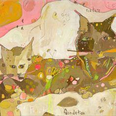 m &b Lynx Paper Print by Jennifer Mercede 11X14 by jennifermercede