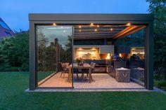Outdoor Fireplace Designs, Outdoor Patio Designs, Outdoor Pergola, Outdoor Kitchen Design, Outdoor Rooms, Outdoor Living, Contemporary Garden Rooms, Rooftop Terrace Design, Backyard Pavilion