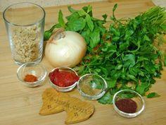 Bezirgan Salatası Turkish Mezze, Pasta, Diy And Crafts, Salads, Beverages, Keto, Meals, Vegetables, Cooking