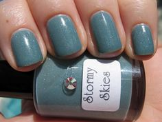 Stormy skies turn to sparkly sunshine with these nail polish tips from Dizzy Nails.