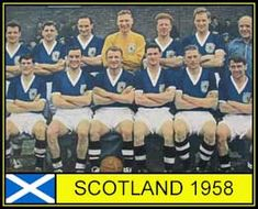Scotland team group for the 1958 World Cup Finals.