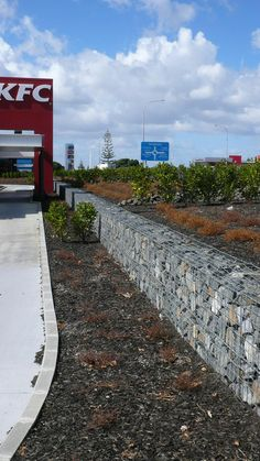 Gallery (Gabions) Auckland Airport : Permathene Australia, Landscaping and Environmental