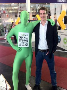 Marius and the green man - at CeBit 2012