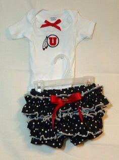 NCAA Utah Utes Boutique Onsie Bloomer outfit infant by SedonaStyle, $32.00